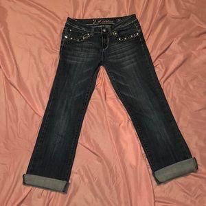 LA Idol USA blue jean capris size 5 medium wash